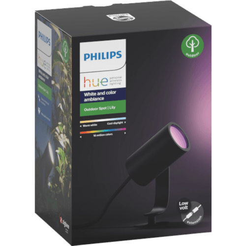 Philips Hue White & Color Ambiance Lily Spot Schwarz